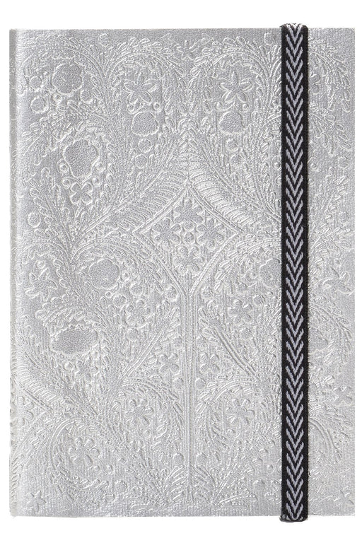 Silver Embossed Paseo A5 Notebook By Christian Lacroix