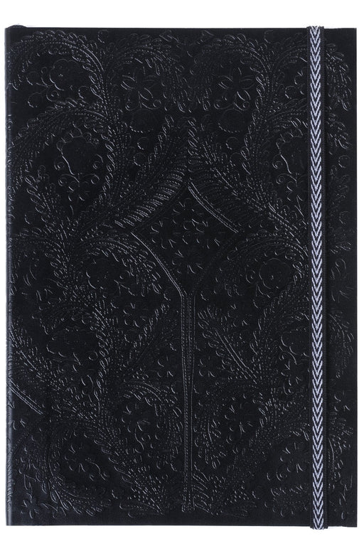 Black Embossed Paseo A6 Notebook By Christian Lacroix