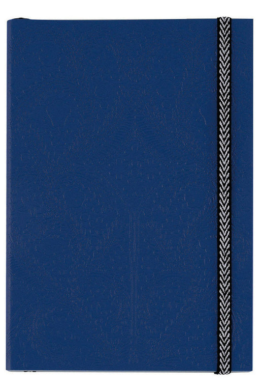 Navy Embossed Paseo A5 Notebook By Christian Lacroix