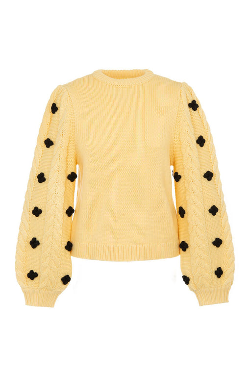 shrimps damon wool jumper pale banana gyapjupulover