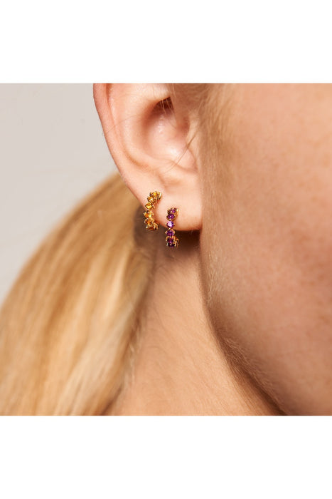 Violet Bird Earrings