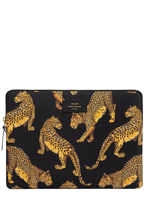 Black Leopard Laptop Case