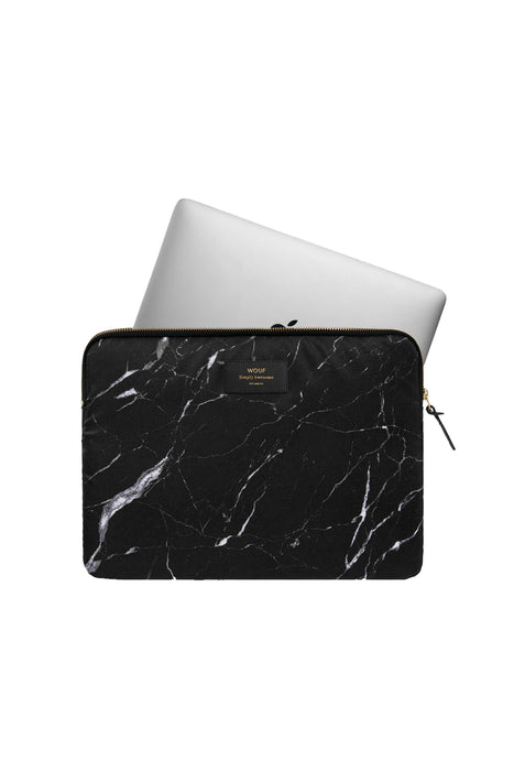 Black Marble Laptop Case