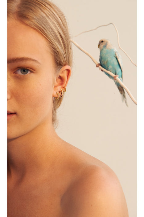 Mint Bird Earrings