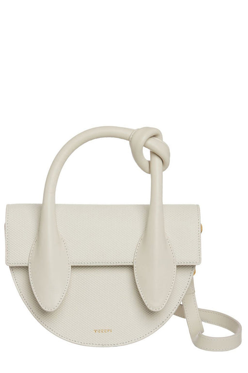 yuzefi dolores embossed handbag off white bor kezitaska
