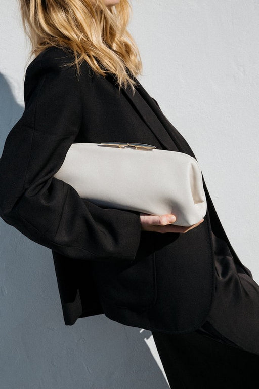 Oyster Leather Clutch