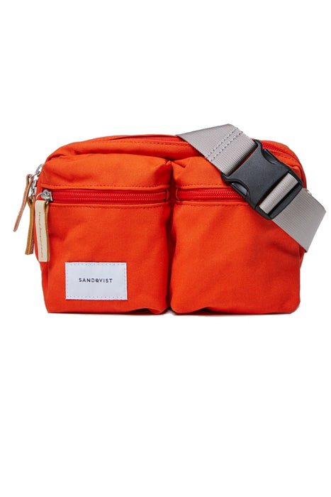 sandqvist paul bum bag poppy red ovtaska