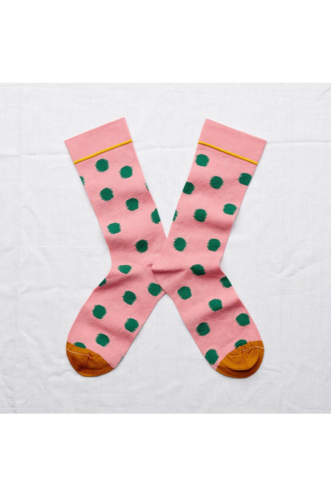 Peach Pink Polka Dot Socks