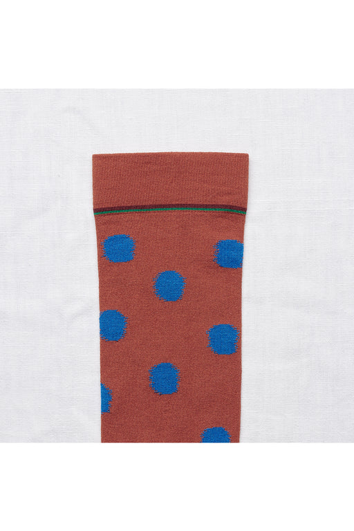Sepia Polka Dot Socks