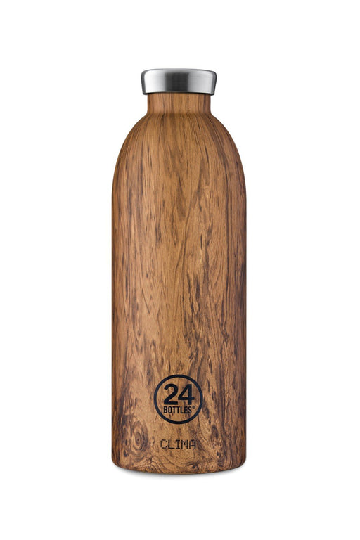 24bottles clima bottle 850 ml sequioa wood rozsdamentes acel kulacs palack