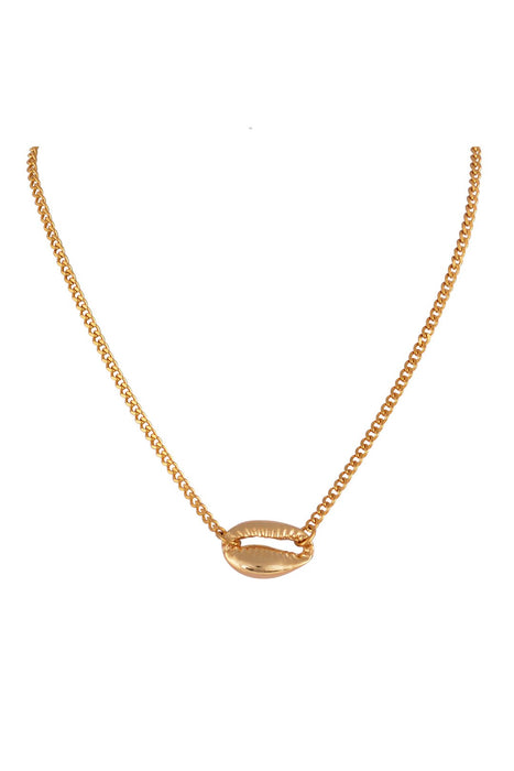 The Gold Cowrie Chain Choker