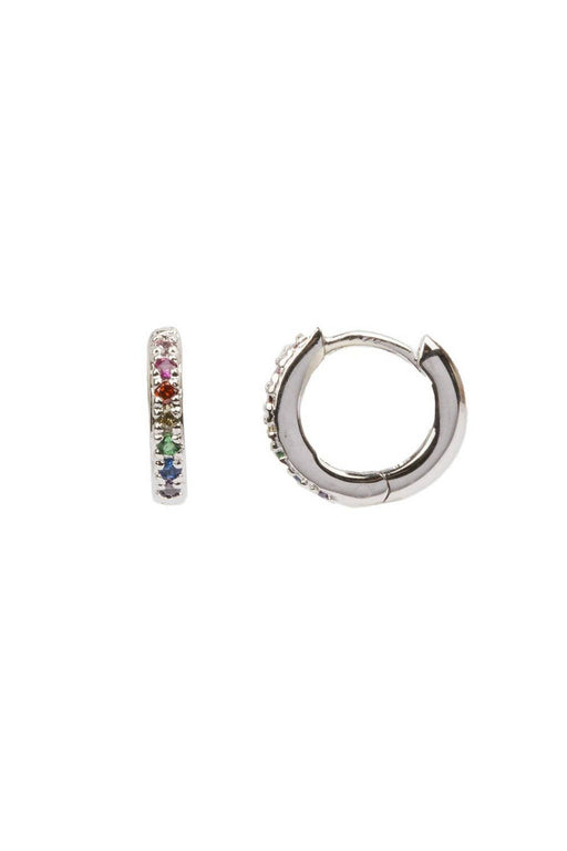 all the luck in the world creole earrings multicolor silver fulbevalo