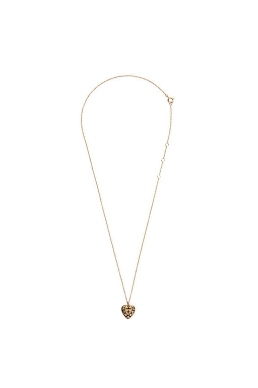 all the luck in the world diamond heart necklace gold nyaklanc