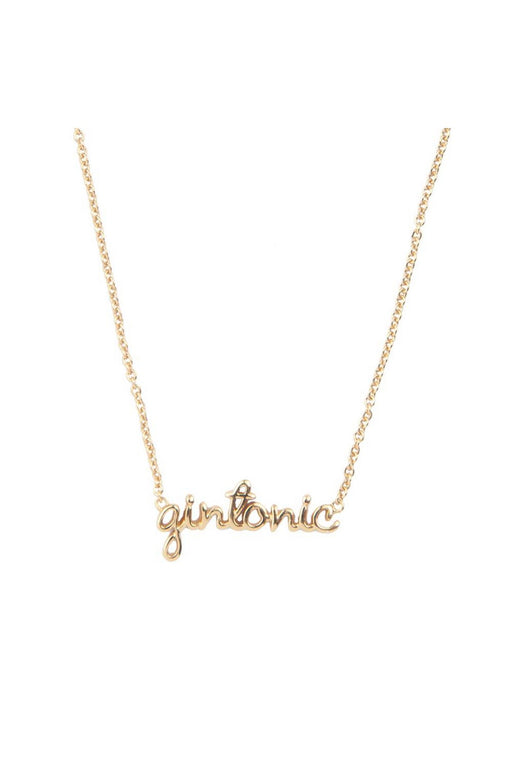 Gin Tonic Necklace