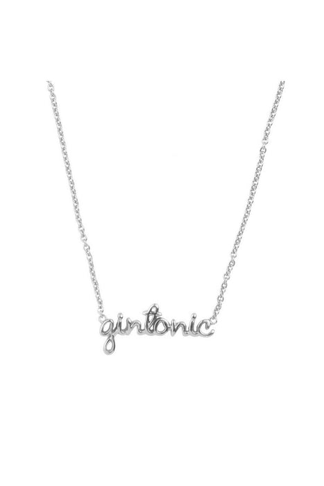 all the luck in the world gintonic necklace silver nyaklanc
