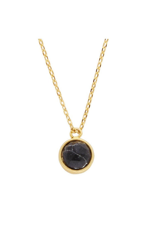 all the luck in the world globe necklace galaxy collection black howlitegold nyaklanc