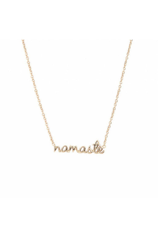 all the luck in the world namaste necklace urban collection gold nyaklanc