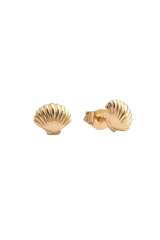 all the luck in the world seashell earrings gold fulbevalo