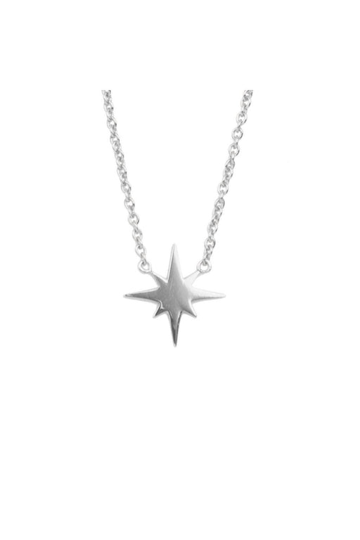 all the luck in the world star burst necklace silver nyaklanc