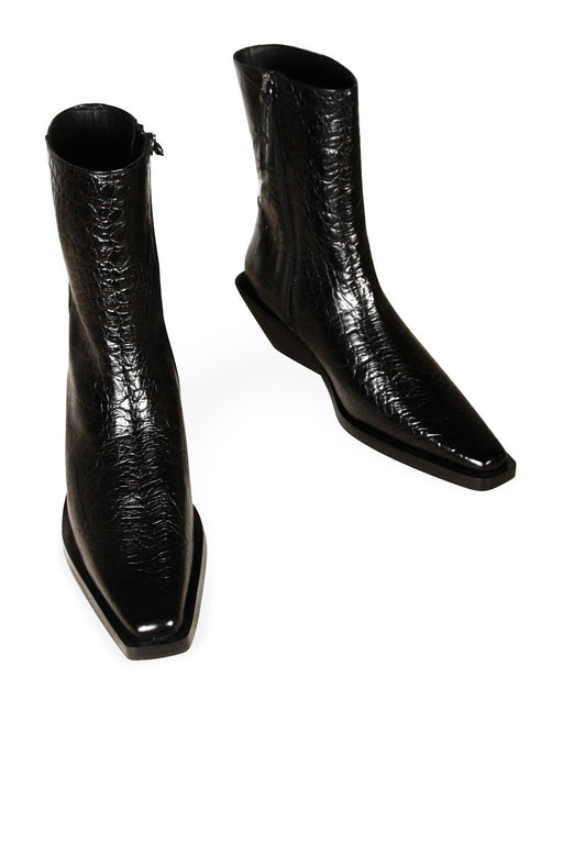 another project vita ankle boots black croc bor bokacsizma