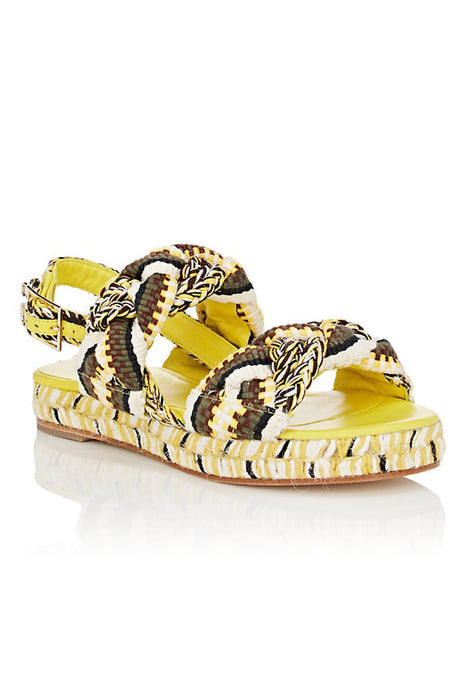 Adelita Cotton Platform Sandals