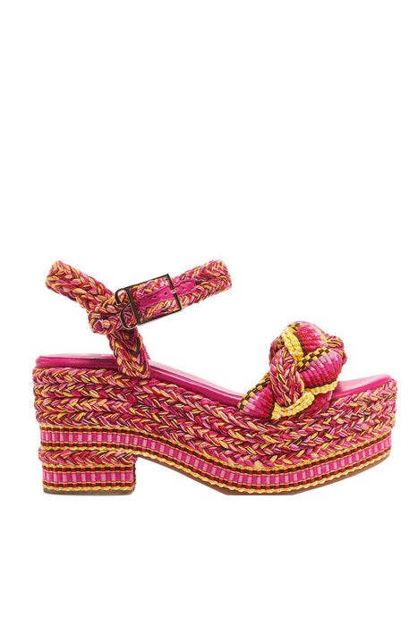 Agustina Cotton Platform Sandals