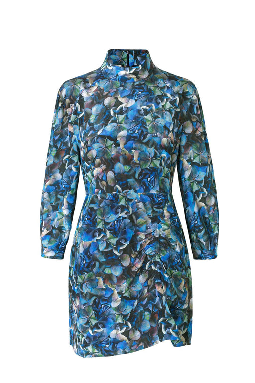 baum und pferdgarten aaliah turtleneck dress blue hydrangea ruha