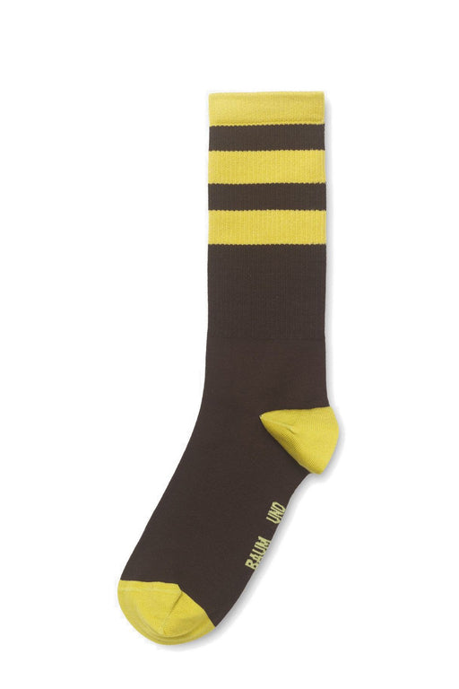 baum und pferdgarten lainey mercerized cotton socks dark earth brown zokni