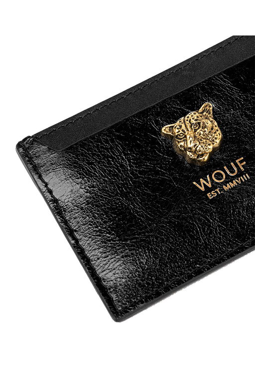 Black Tiger Leather Card Holder