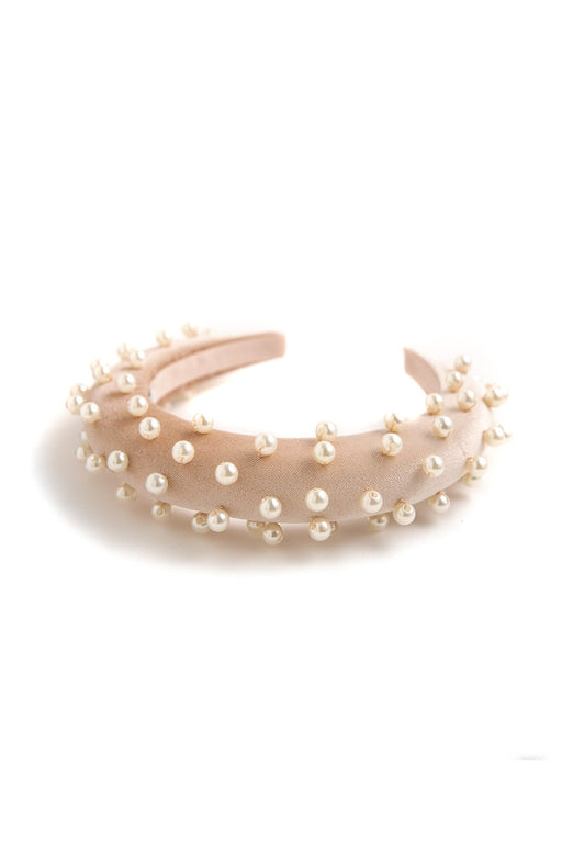 Shiny Rosa & Pearls Headband