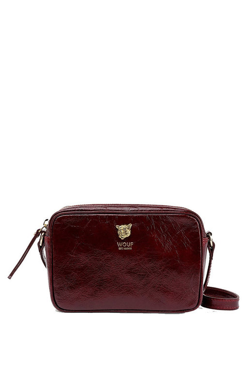 Burgundy Tiger Leather Camera Bag