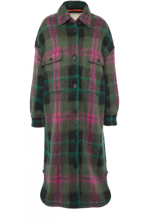 Checked Wool-Jacquard Coat