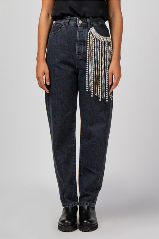 Jeans With Strass Insert