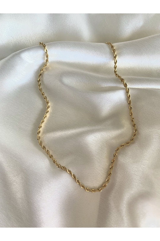 crystal haze rope chain gold nyaklanc