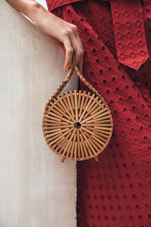 Zaha Mini Bamboo Clutch