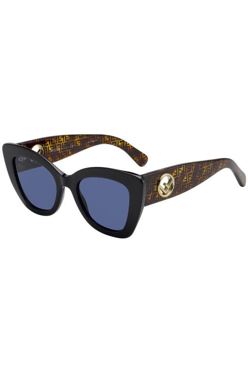 Cat Eye Sunglasses With Inset Logo Temples