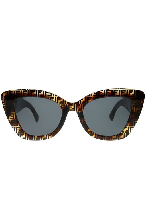 fendi cat eye sunglasses with inset logo temples dark havanagrey napszemuveg