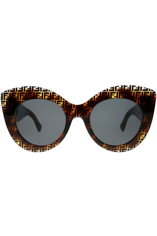 fendi f is fendi cat eye sunglasses dark havanagrey napszemuveg