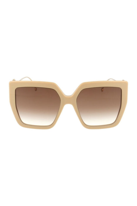 fendi f is fendi oversize square sunglasses beigebrown shaded napszemuveg