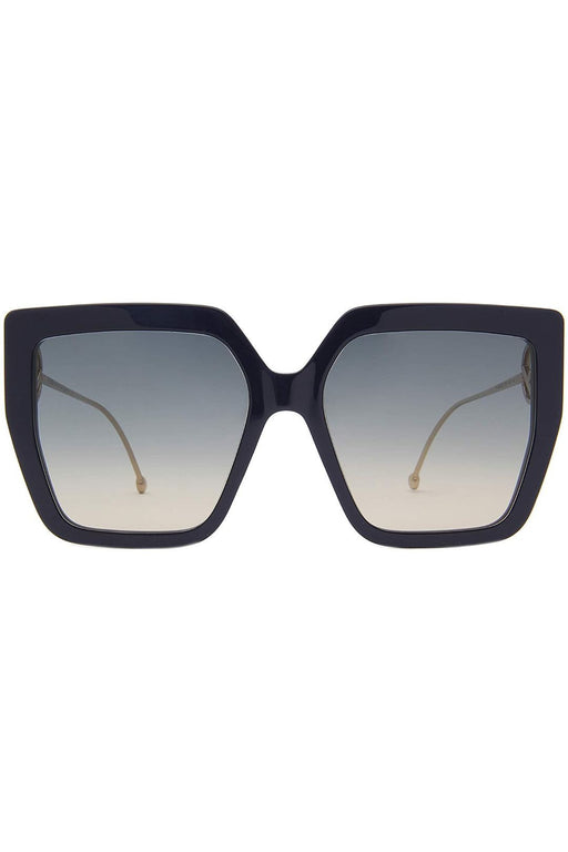 fendi f is fendi oversize square sunglasses blackdark grey shaded napszemuveg