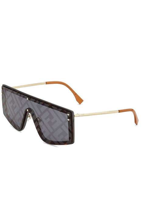 Fendi Fabulous Monogrammed Shield Sunglasses