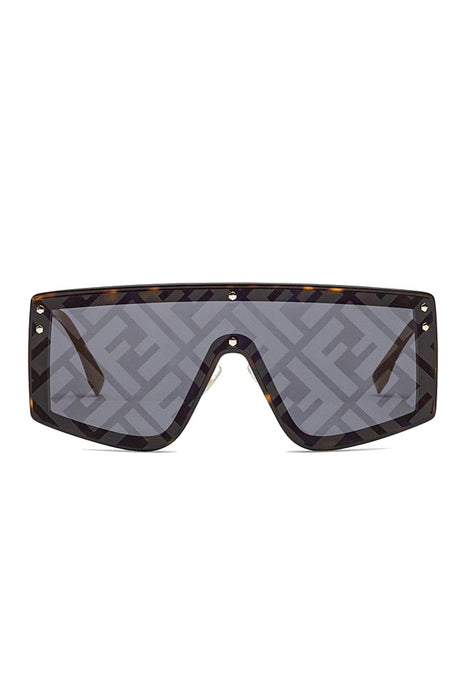 fendi fendi fabulous monogrammed shield sunglasses dark havanayellow decor napszemuveg