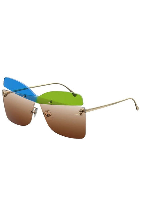 Karligraphy Colour Block Cutout Sunglasses