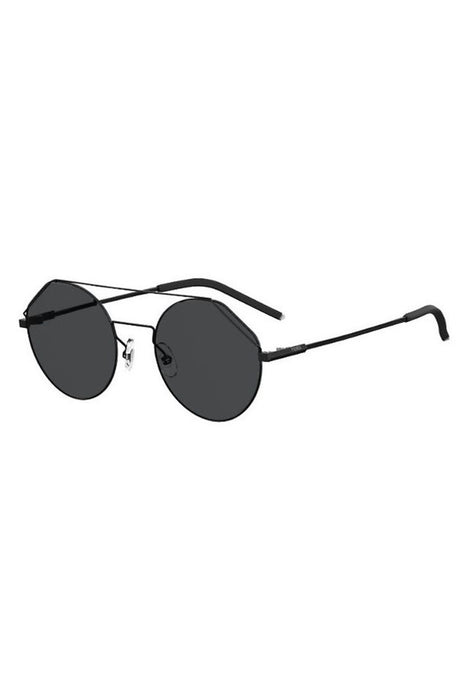 fendi notched aviator sunglasses blackgrey napszemuveg