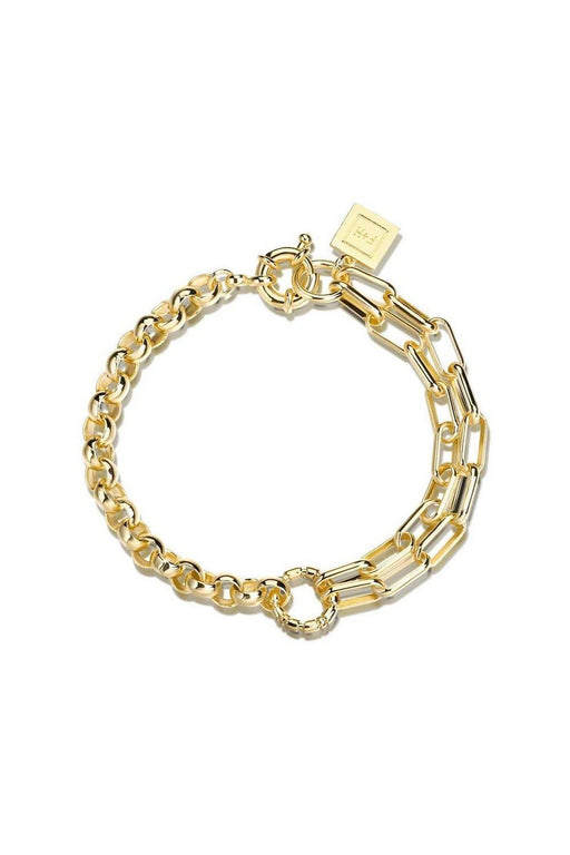fh jewellery slash double chain bracelet gold korpulens lanc karkoto