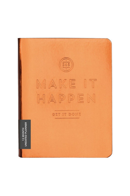 Make It Happen – Copper Deluxe Pocket Undated Planner