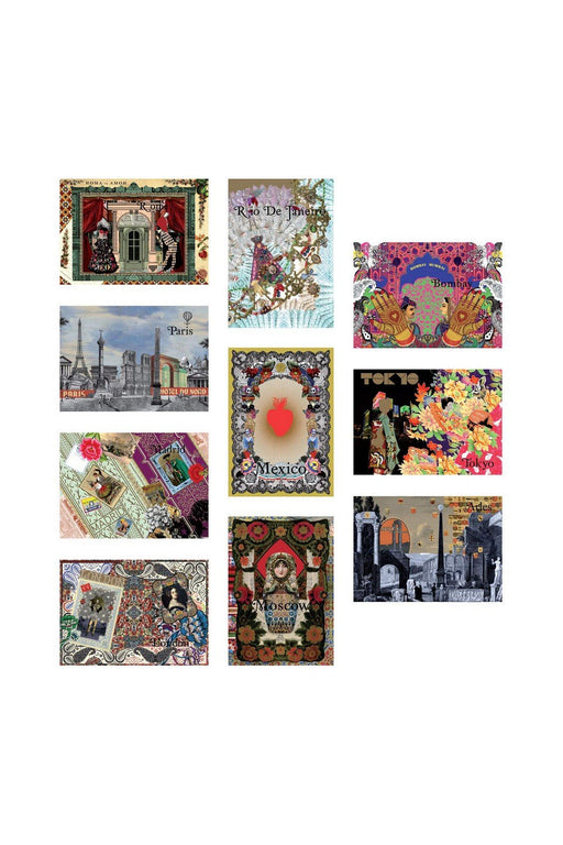 galison the art of travel postcards by christian lacroix kepeslap