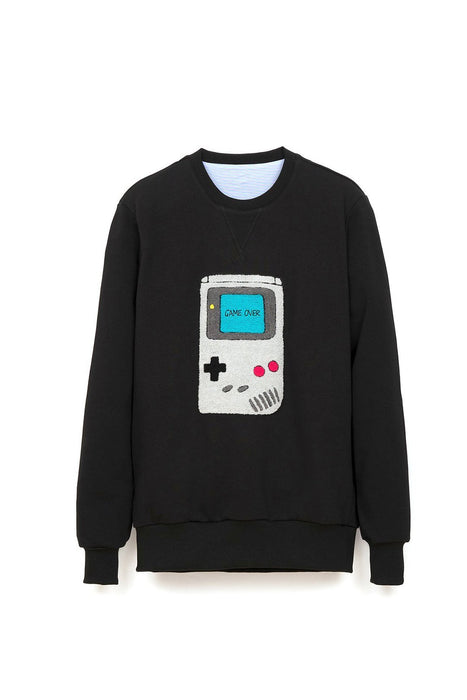 gameboy-sweatshirt-black