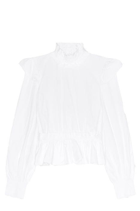 Frilled Organic Cotton Blouse