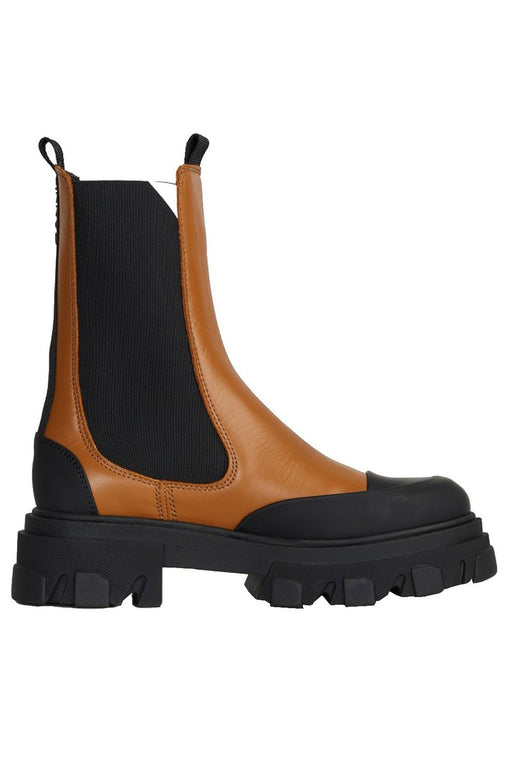 Leather Mid-Calf Chelsea Boots